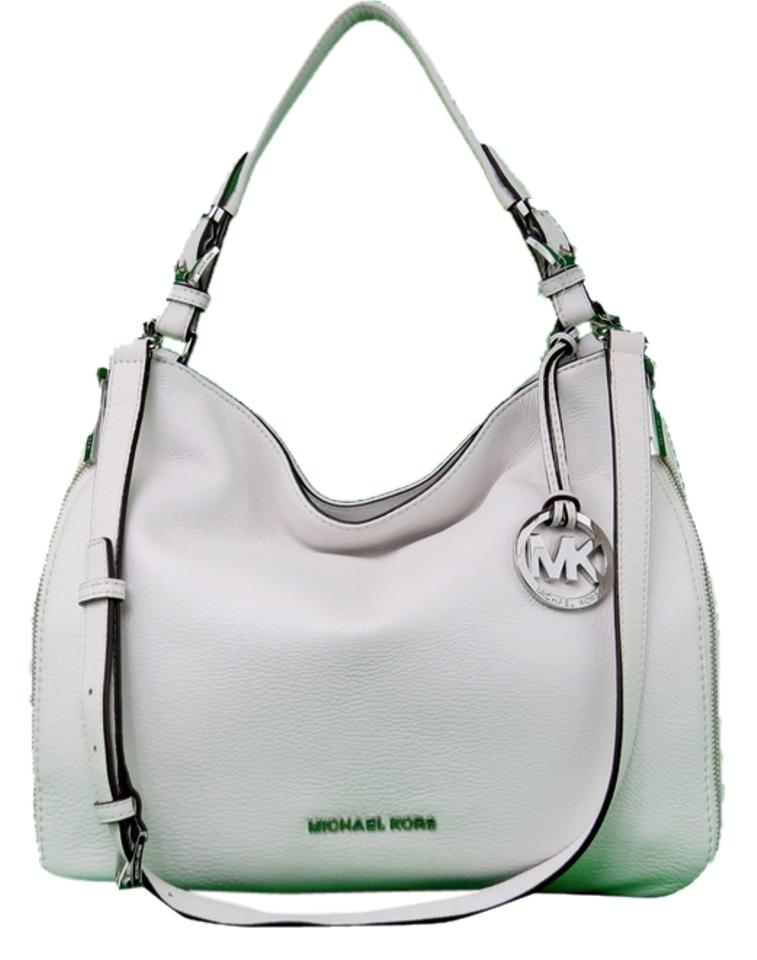 6fe5c9689463 Michael Kors Essex Large Optic White Leather Shoulder Bag - Tradesy