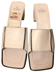 Fendi white Mules