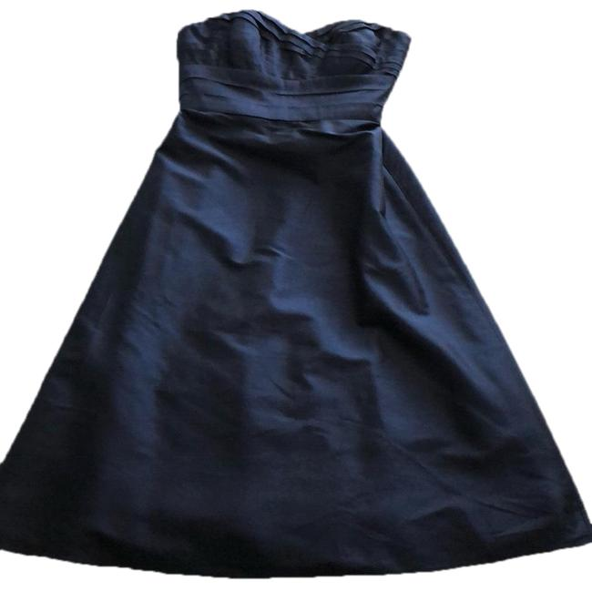 Item - Navy Strapless Mid-length Formal Dress Size 2 (XS)