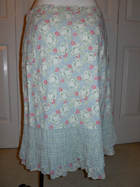 American Eagle Outfitters Ruffled Cotton Skirt print Image 3