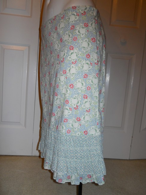 American Eagle Outfitters Ruffled Cotton Skirt print Image 6