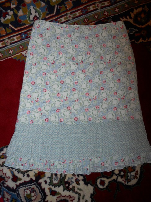 American Eagle Outfitters Ruffled Cotton Skirt print Image 7