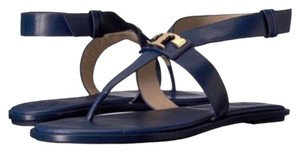Tory Burch Leather Navy Blue Sandals