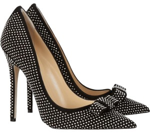 Jimmy Choo Crystal Anouk Studded Maya Hardware Black, Silver Pumps