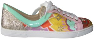 Christian Louboutin With Box Red Tennis Multicolor Flats