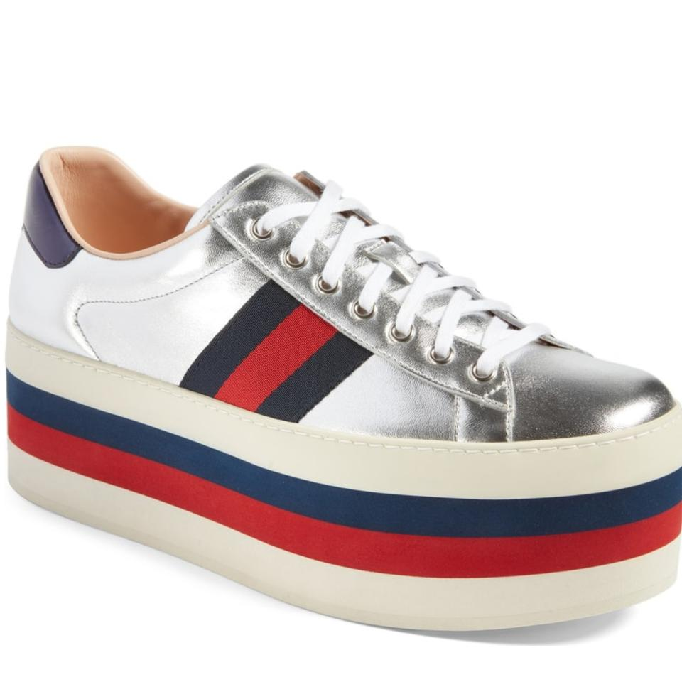 373d6bf9939 Gucci New Peggy Mens Platform Sneakers G7 472933 Sneakers Size US 8 ...