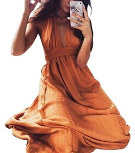 Orange Maxi Dress by SABO SKIRT