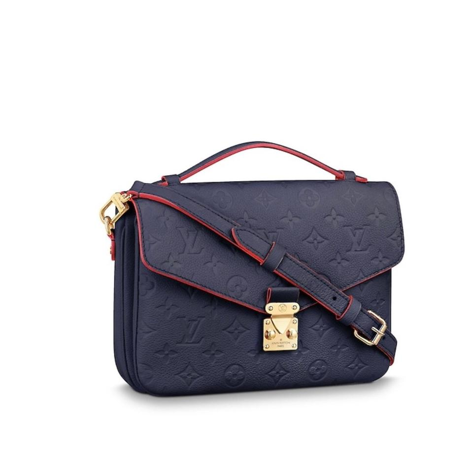 a6fe002d5394 Louis Vuitton Pochette Metis Empreinte Marine Rouge Leather Cross ...