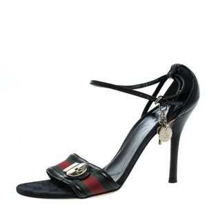 Gucci Black,Green,Red Sandals