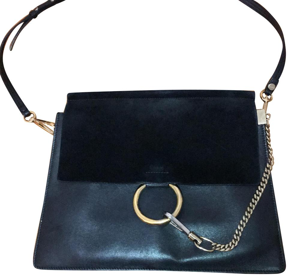 a671dfcdfb Chloé Faye Black Suede Leather Messenger Bag 59% off retail