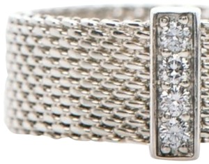 Tiffany & Co. **sold**Tiffany & Co. Summerset Mesh ring with diamonds