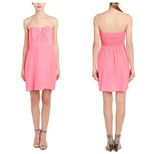 Alice & Trixie Pink Peach Silk Sheeth Feminine Bridesmaid/Mob Dress Size 2 (XS)