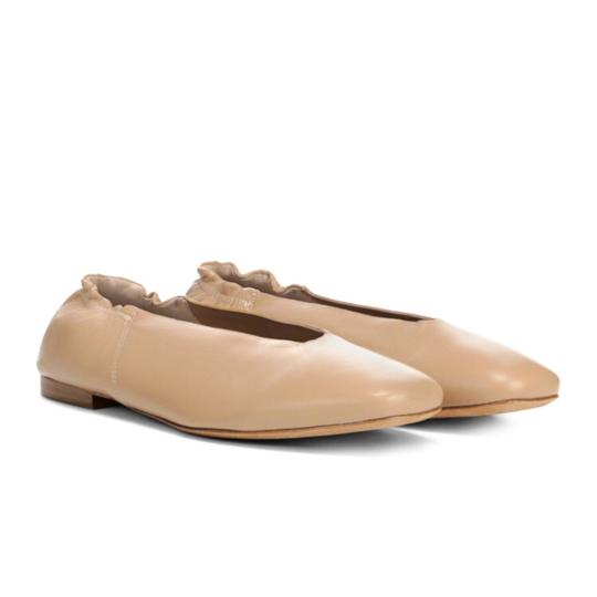 Vince Leather Classic Comfortable NUDE Flats Image 1