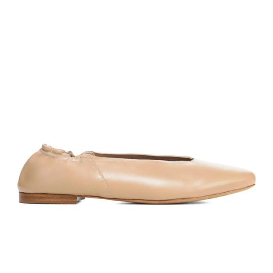 Vince Leather Classic Comfortable NUDE Flats Image 3