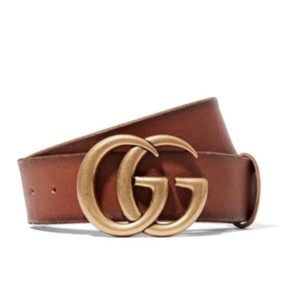 Gucci GG logo Marmont leather belt size 65
