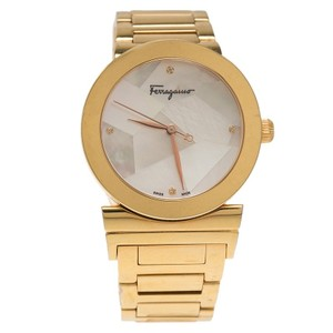 Salvatore Ferragamo Mother of Pearl Gold Ion Plated Stainless Steel FG2 Women's Wristwatc