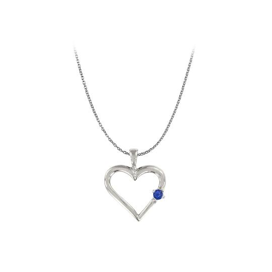 Preload https://img-static.tradesy.com/item/23669448/blue-created-sapphire-heart-pendant-925-sterling-silver-005-ct-tgw-necklace-0-0-540-540.jpg