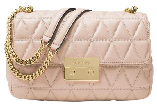 f86830ee3b2e Michael Kors Sloan Large Quilted-leather Soft Pink Leather Shoulder ...
