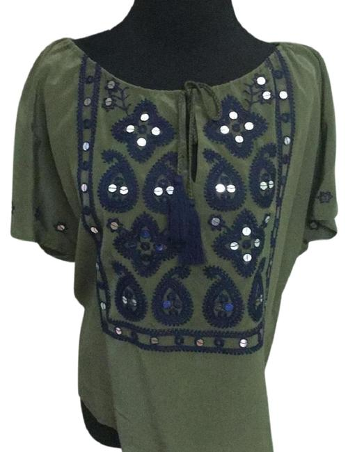 Preload https://img-static.tradesy.com/item/23669550/tory-burch-dark-olive-new-w-tag-green-camille-blouse-size-4-s-0-1-650-650.jpg