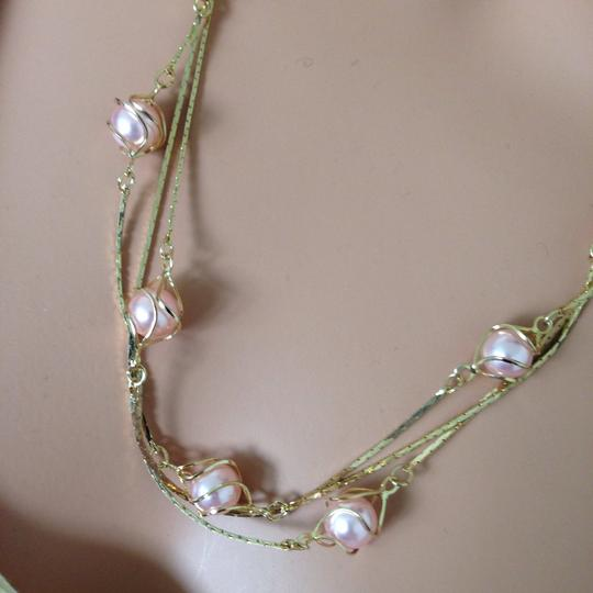 n/a Gold plated pink peal necklace Image 2