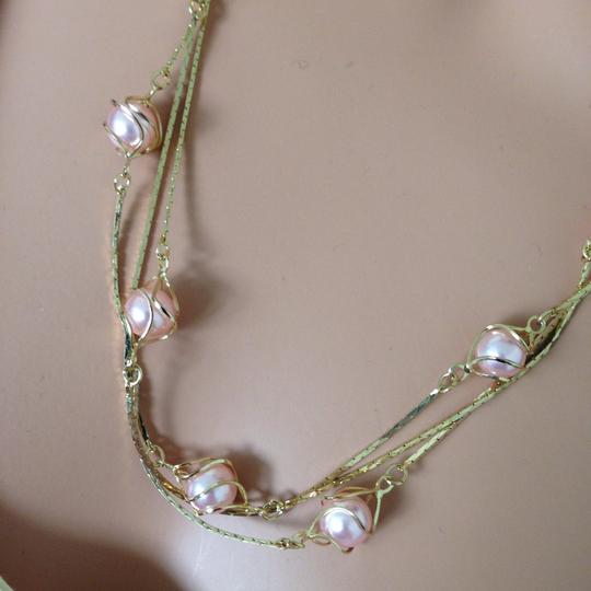 n/a Gold plated pink peal necklace Image 4