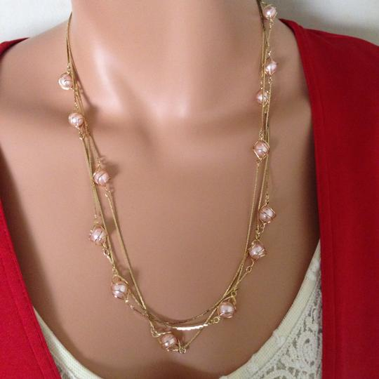 n/a Gold plated pink peal necklace Image 7