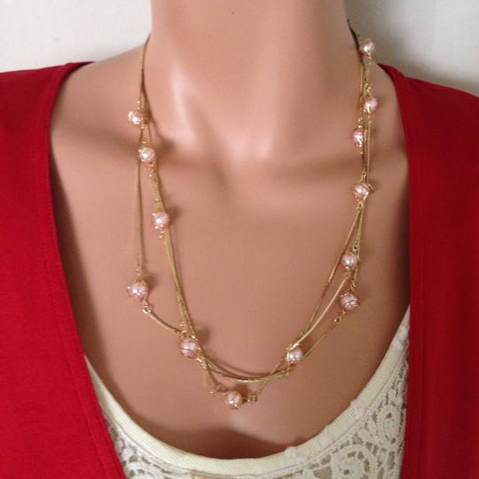 n/a Gold plated pink peal necklace Image 8
