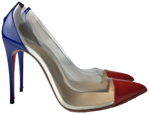 Christian Louboutin white blue red Pumps