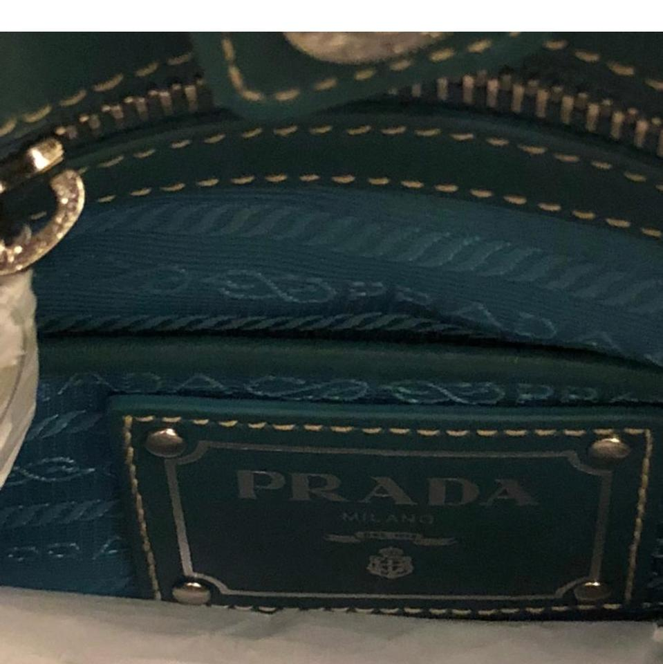 Soft Tessuto Twill Tech Blue Lady Prada Leather Satchel 1qSOEqT