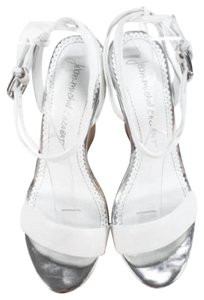 Jean-Michel Cazabat Cork Cabzat Sandals White Wedges