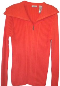Liz & Co. Ribbed Cotton Pullover 1/4 Zip Sweatshirt