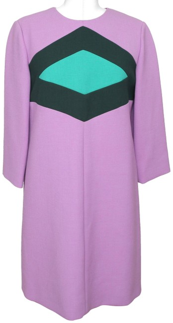 Preload https://img-static.tradesy.com/item/23669972/marni-lavender-greens-34-sleeve-shift-color-block-wool-cotton-42-bnwt-mid-length-workoffice-dress-si-0-1-650-650.jpg