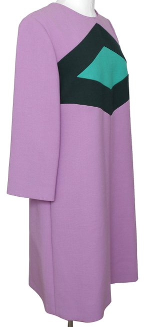 Marni Shift Designer 3/4 Sleeve Wool Designer Dress Image 1