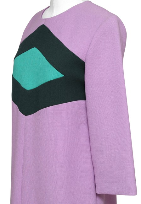 Marni Shift Designer 3/4 Sleeve Wool Designer Dress Image 5