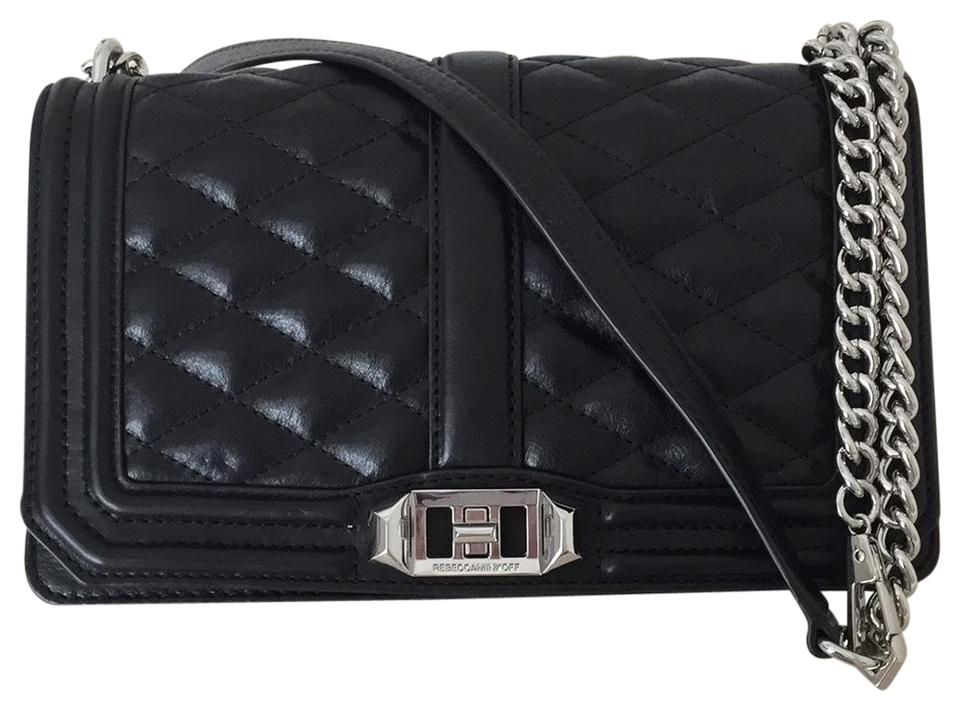 Black Love Minkoff Cross Leather Bag Quilted Body Rebecca qztwH4nH