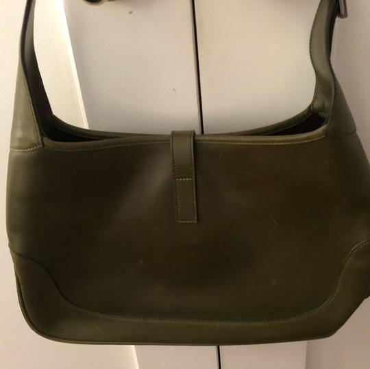 Gucci Satchel in green leather Image 2
