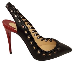 Christian Louboutin Loubuitton Leather Black Pumps