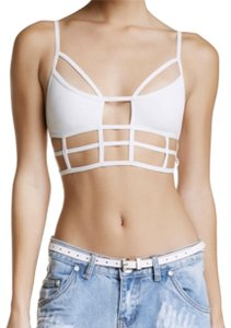 One Teaspoon Cut Out Top White