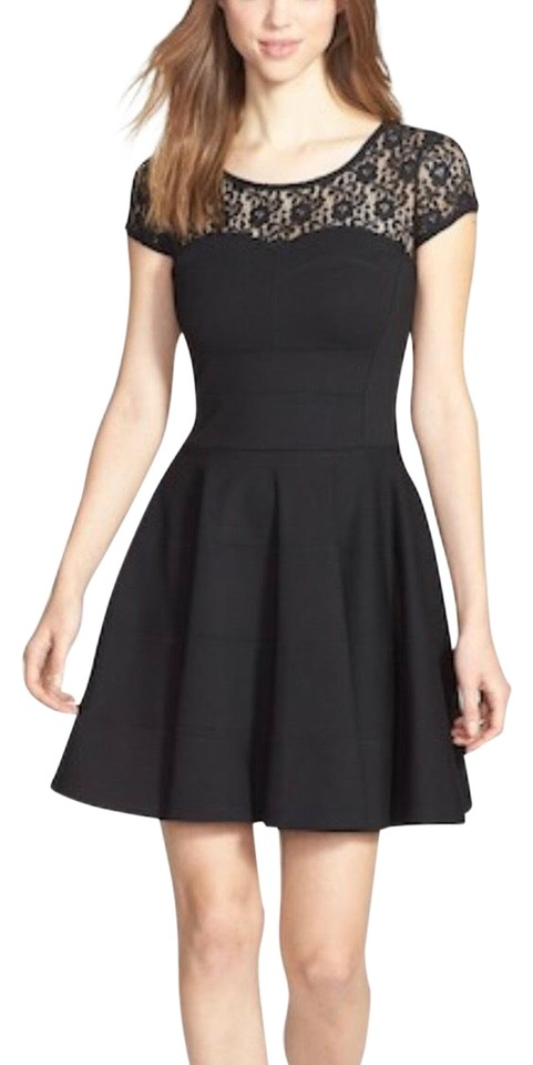 dc000fe660627 FELICITY & COCO Black Cienna-lace Short Night Out Dress Size 12 (L ...