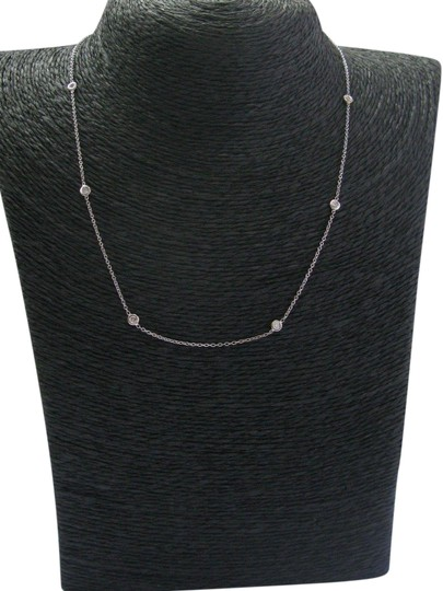 Preload https://img-static.tradesy.com/item/23670266/white-gold-18kt-round-cut-diamond-by-the-yard-8-stone-20ct-16-necklace-0-1-540-540.jpg