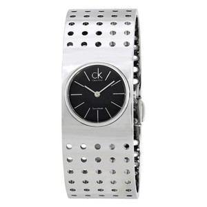 Calvin Klein Calvin Klein Grid Dark Grey Dial Midsize Cuff Ladies Watch K8322107