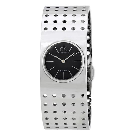 Calvin Klein Calvin Klein Grid Dark Grey Dial Midsize Cuff Ladies Watch K8322107 Image 0