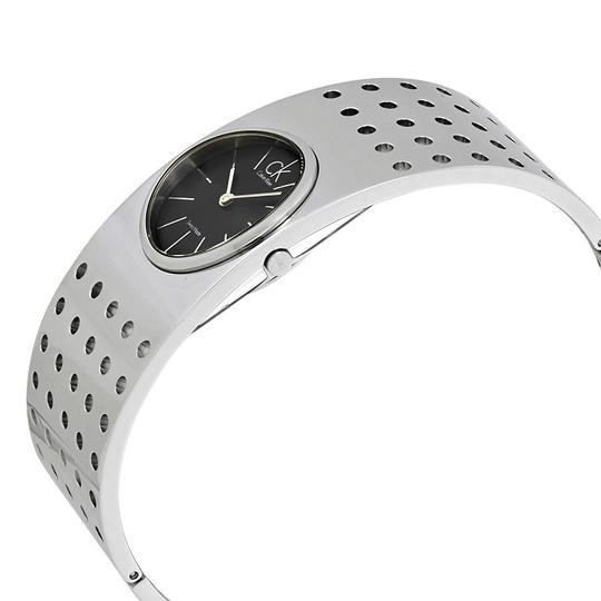 Calvin Klein Calvin Klein Grid Dark Grey Dial Midsize Cuff Ladies Watch K8322107 Image 1