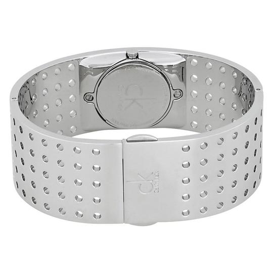 Calvin Klein Calvin Klein Grid Dark Grey Dial Midsize Cuff Ladies Watch K8322107 Image 2