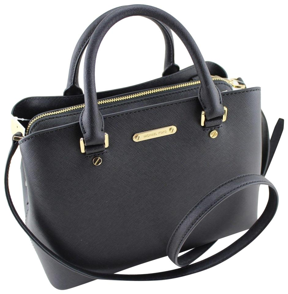 3e61e9421ebf MICHAEL Michael Kors Savannah Medium Below Retail Black Saffiano ...
