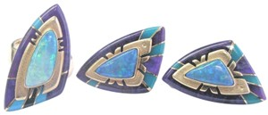 Raoul Raoul Sosa 14Kt Opal Sugalite & Turquoise Yellow Gold Ring & Earring