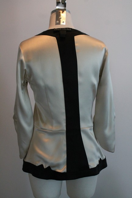 Ralph Lauren Collection Top Black and Cream Image 6