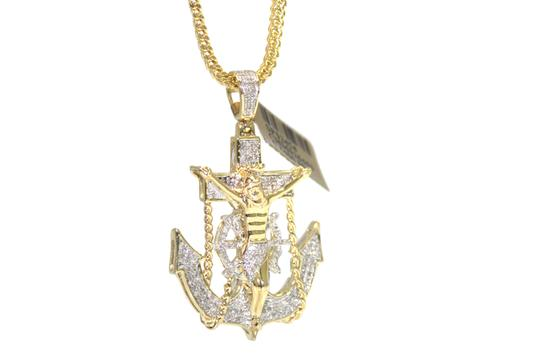 Other 10KT. Franco Chain with Anchor Charm Pendant Necklace Image 2