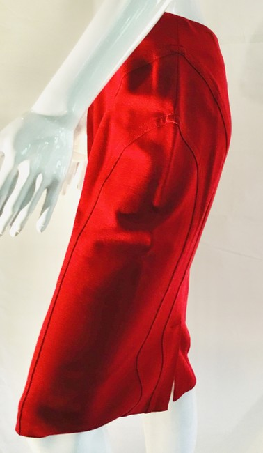 Item - Red Bodycon Shapewear Pencil Skirt Size 8 (M, 29, 30)
