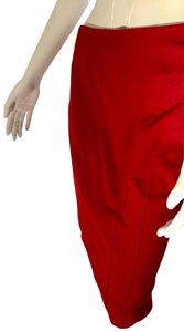 Shape FX Pencil Stretchy Shapewear Skirt Red